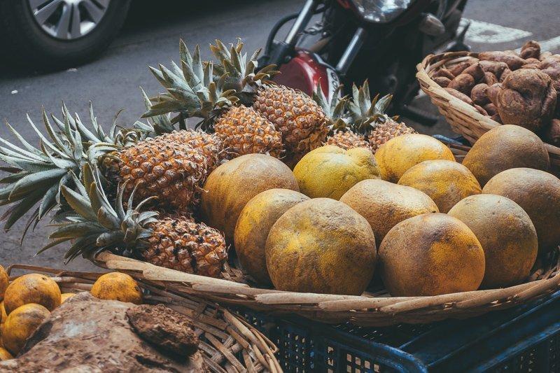 Vers fruit op de markt.