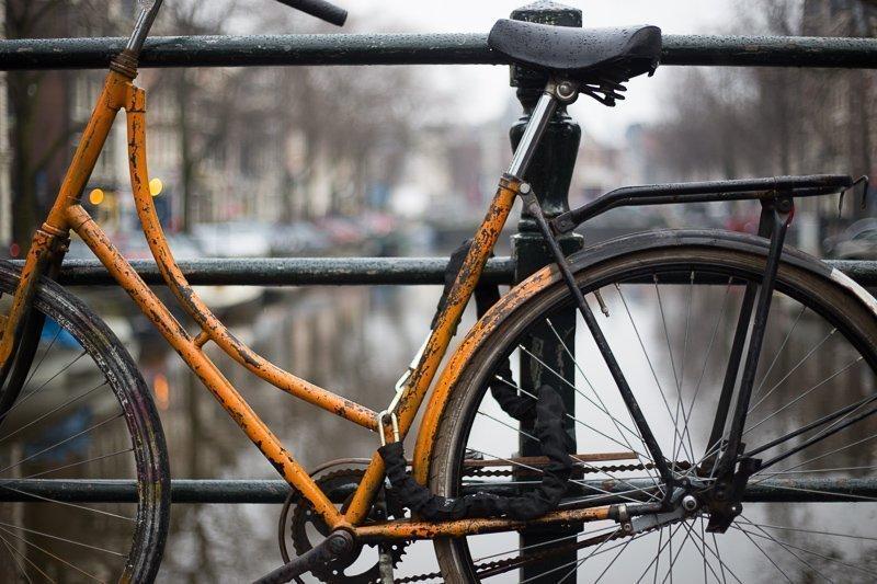 Fiets ook zeker door het centrum tijdens een paar dagen in Amsterdam.