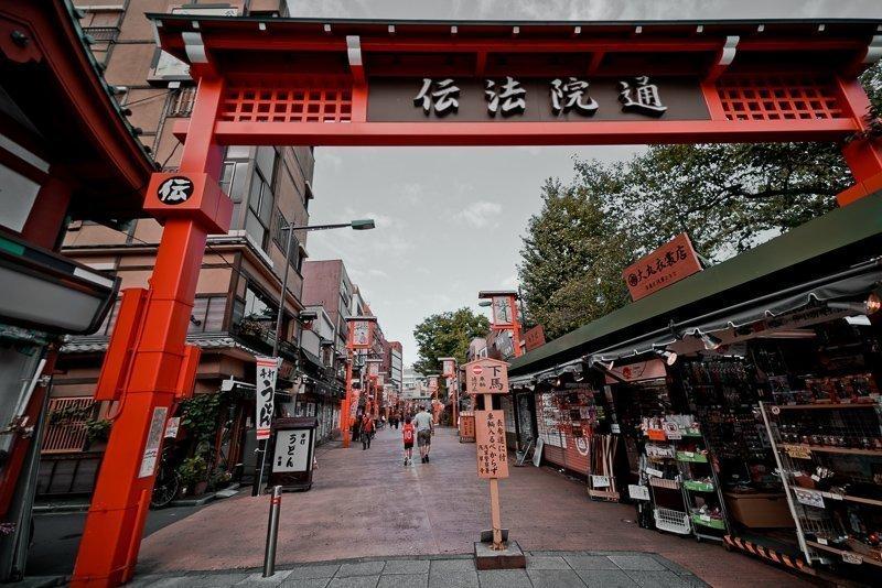 Asakusa is een van de oudste wijken van Tokyo, waar je nog oude panden bewondert.