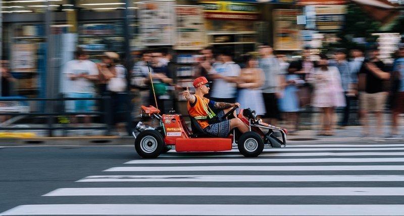 Een van de leukste Tokyo tips is Mariokart.