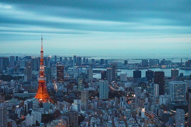 In Tokyo vind je ook een replica van de Eiffeltoren!