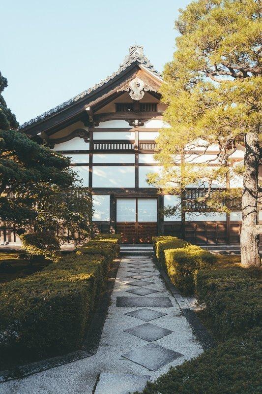 Kenninji tempel in Japan is fantastisch van binnen en buiten.