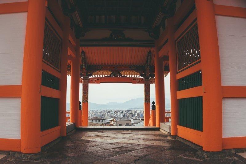 Het uitzicht vanaf de Kiyomizudera.