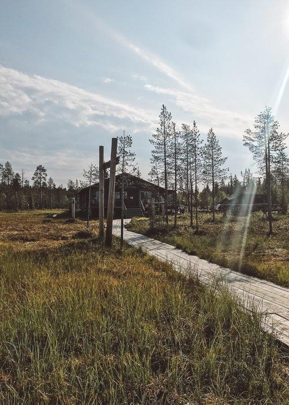 Tijdens de zomer in Lapland kun je mooie hikes maken.