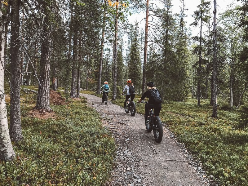 Ga je in de zomer naar Lapland toe? Stap dan op een fatbike!