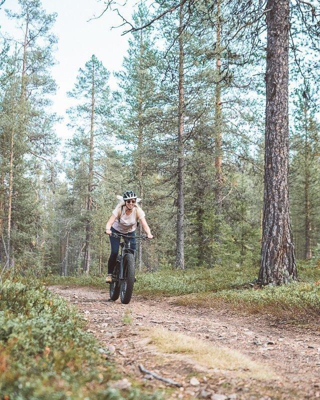 Fatbiken door de bossen van Finland!
