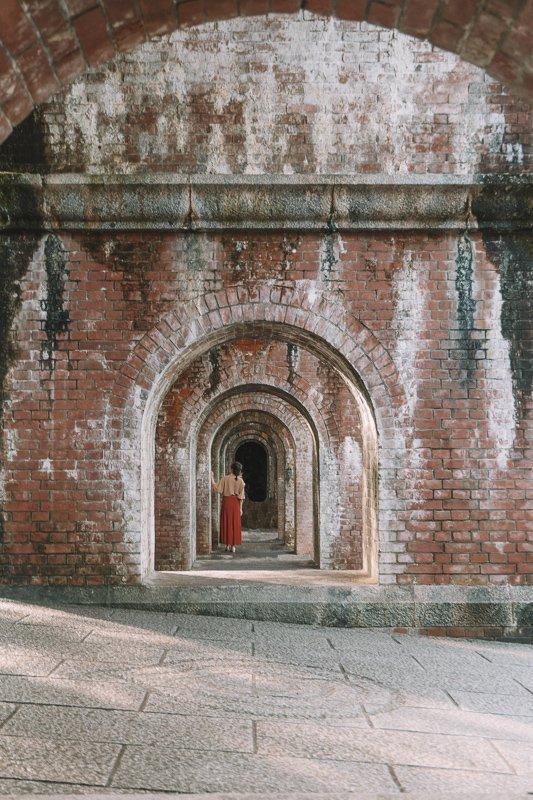 Rondom de Nanzenji tempel vind je een arches bridge.