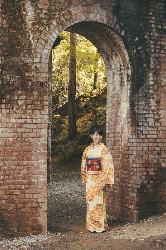 Poseren bij de arches bridge van de Nanzenji tempel.