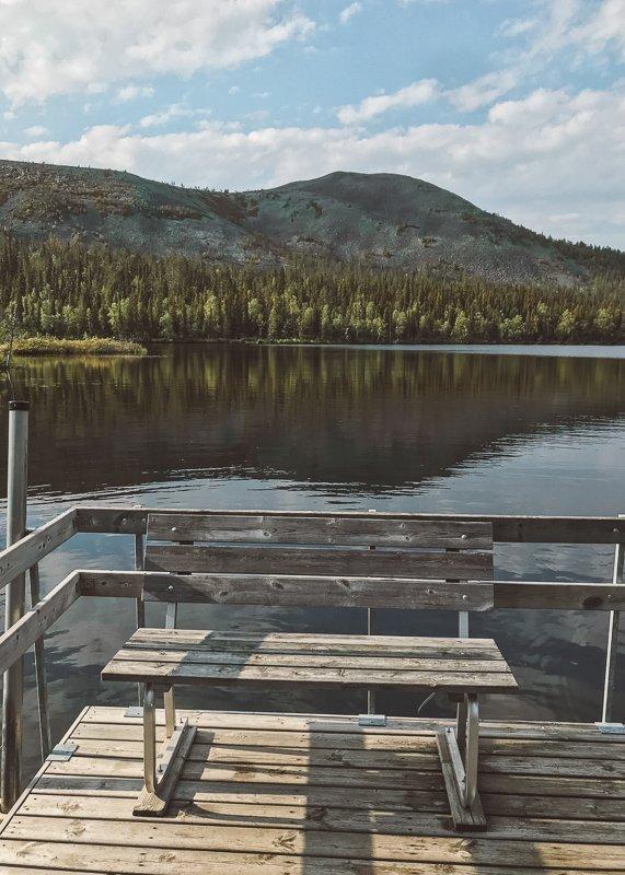 Ga lekker vissen in de zomer in Fins Lapland.