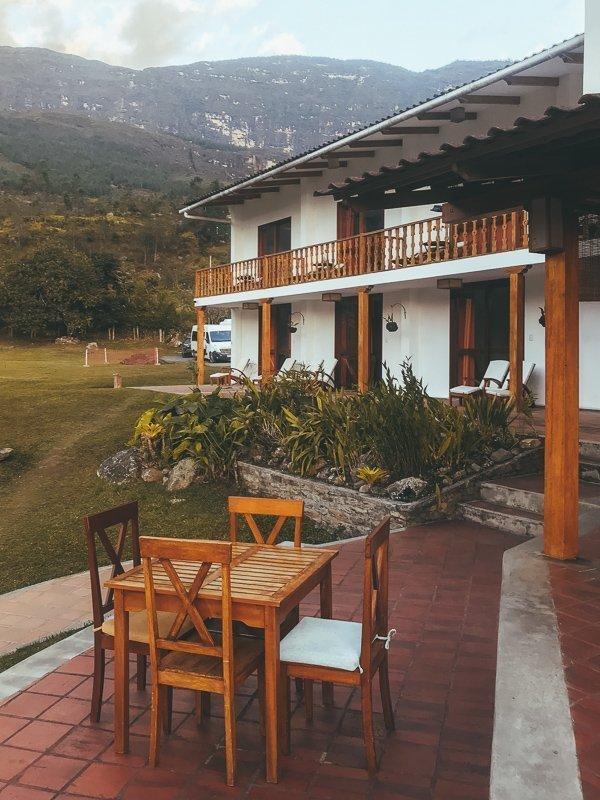 De Gocta Lodge in het noorden van Peru.