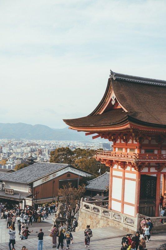 Uitzichten en tempels in Kyoto.