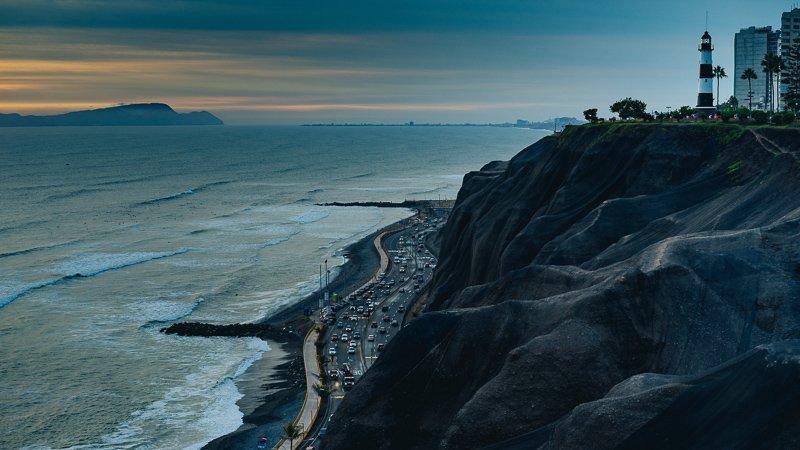 De kust van Lima.