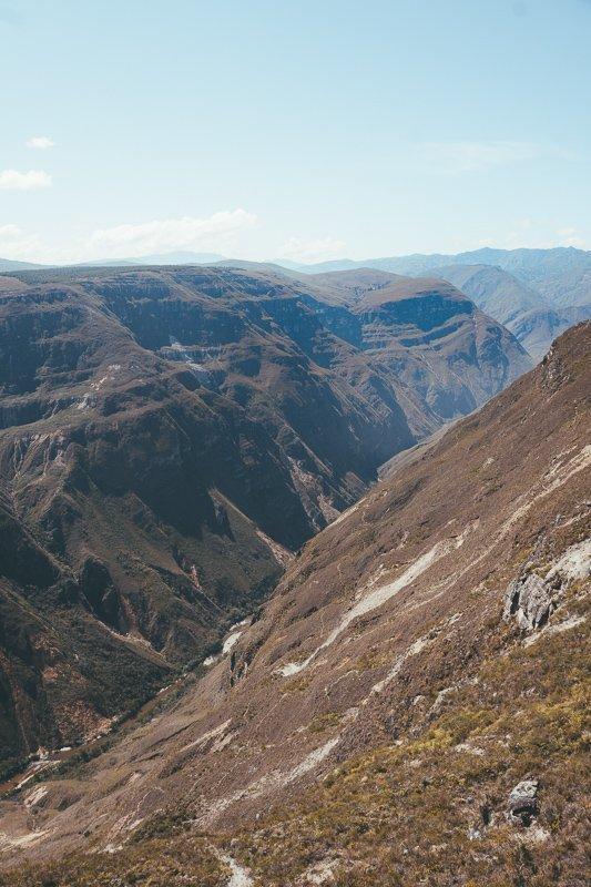 De Sonche Canyon in het noorden van Peru is zo mooi.