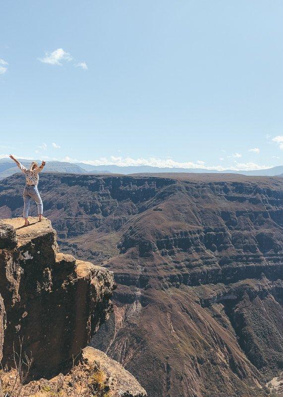 De Sonche Canyon is fantastisch mooi!