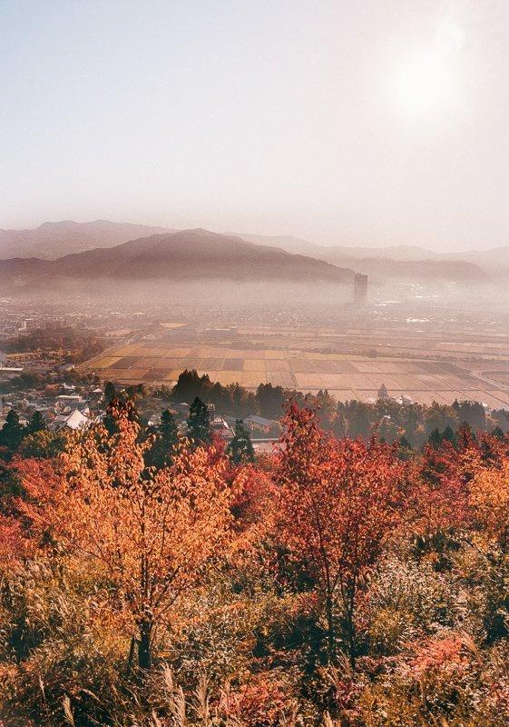 Herfstkleuren in een prachtige vallei.
