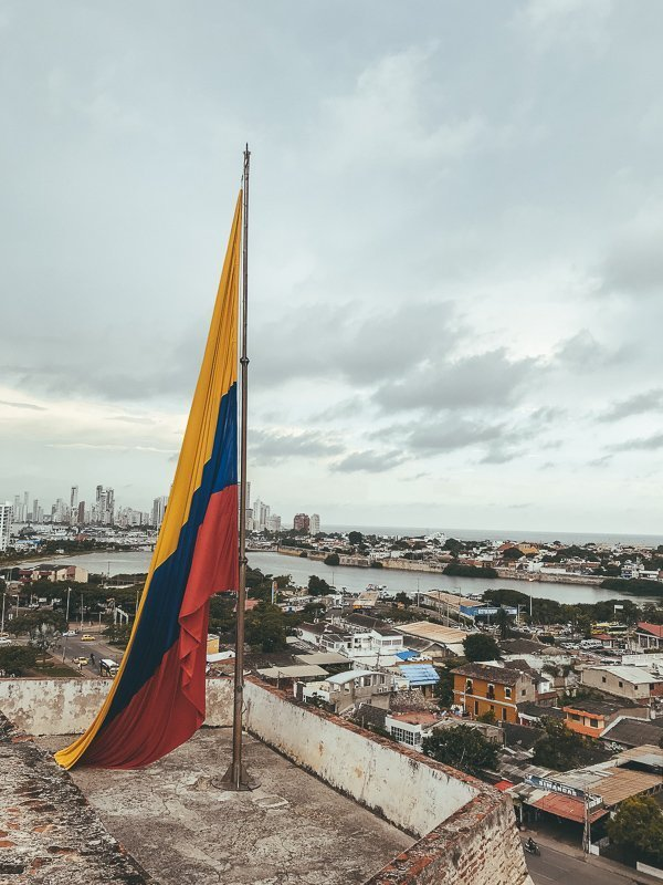 Het uitzicht vanaf Castillo San Felipe de Barajas