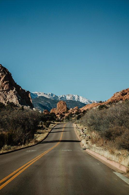 De eindeloze wegen in de Verenigde Staten.