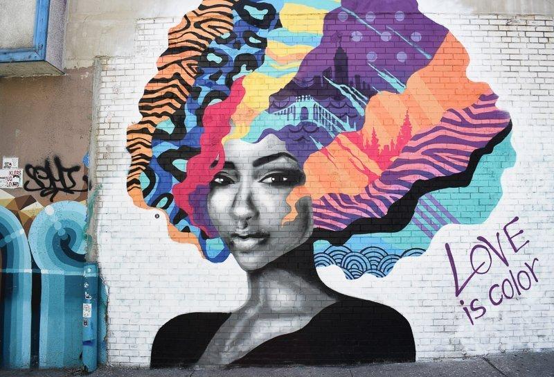 Graffiti in Bushwick, een ruige wijk in Brooklyn.
