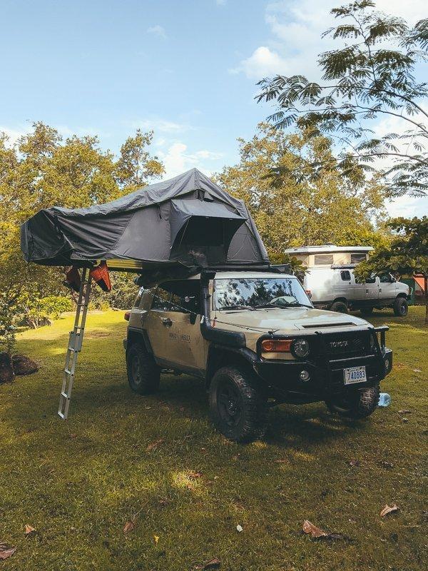 Camping nabij Rincon de la Vieja national park.
