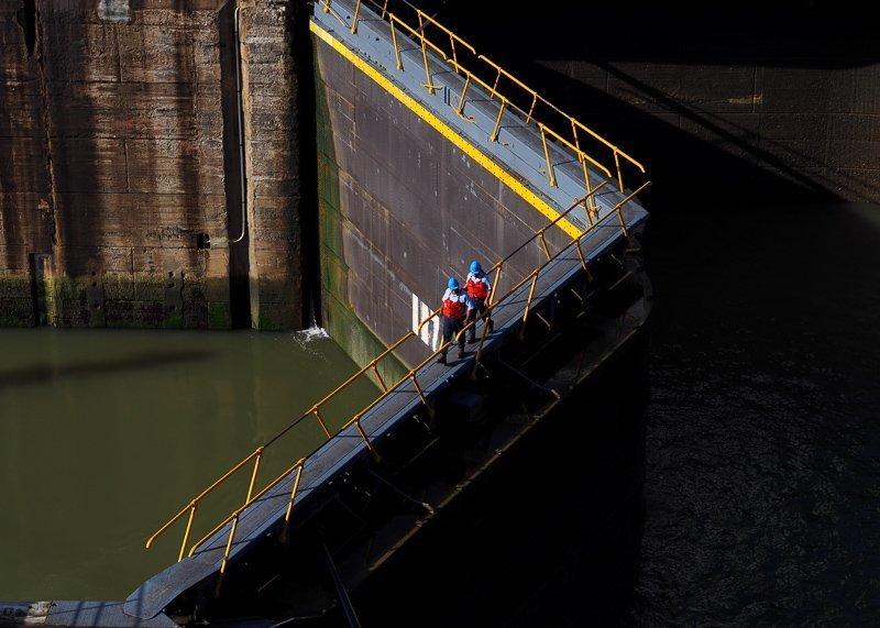Het Panama kanaal.