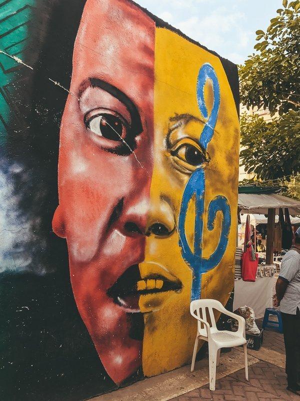 Prachtige street art in Getsemani