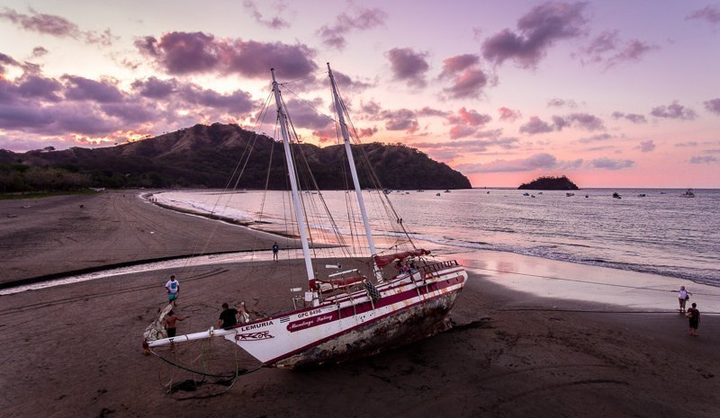 Prachtige kustlijn bij Costa Rica.