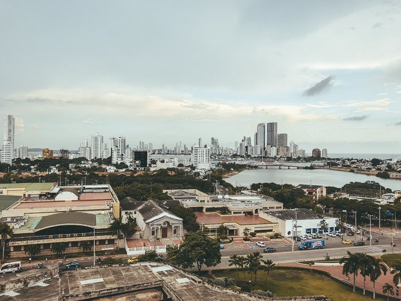 Het uitzicht in Cartagena