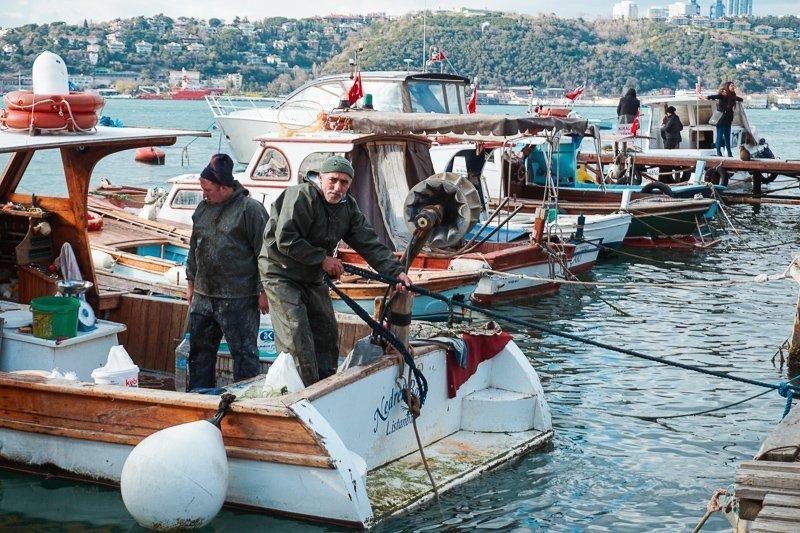 De haven van Istanbul, een van de bekendere bezienswaardigheden.