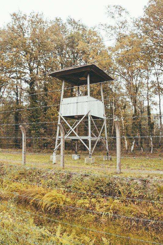 De wachttorens in het concentratiekamp Vught.
