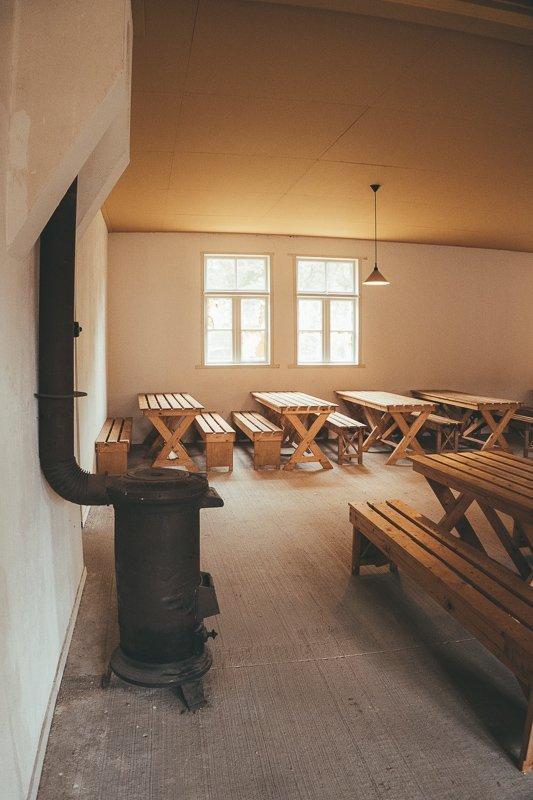 De algemene huiskamer in Kamp Vught.
