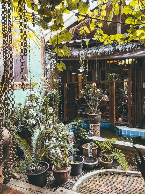 Het altijd gezellige Om Garden Cafe.