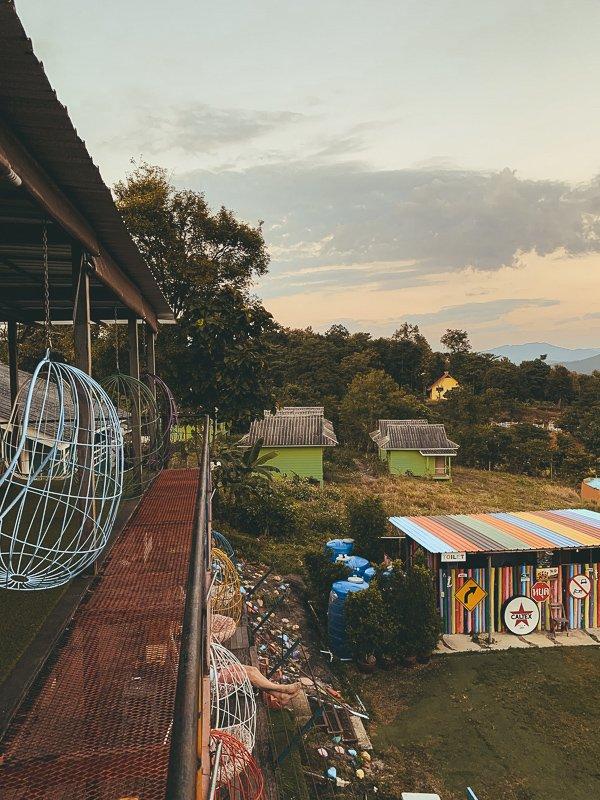 Hier relax je met een mooi uitzicht in Pai!