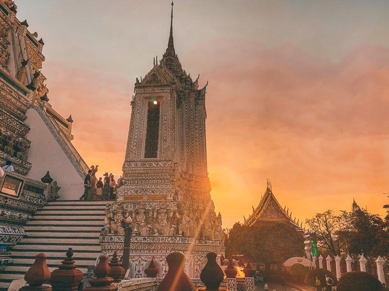 Wat Arun tijdens de zonsondergang