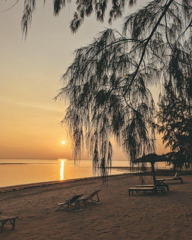 Zonsondergang op Koh Phangan Thailand