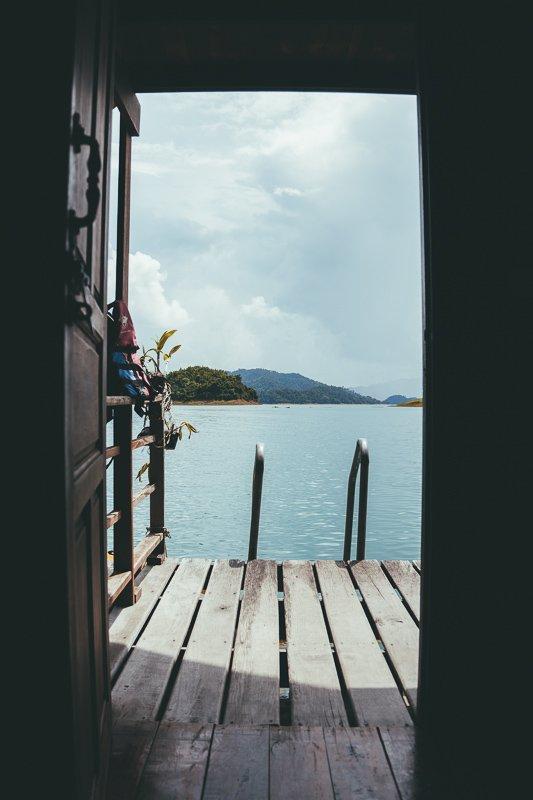 Het uitzicht vanaf je eigen bungalow.