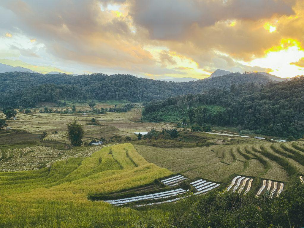 Een prachtig uitzicht in Thailand.