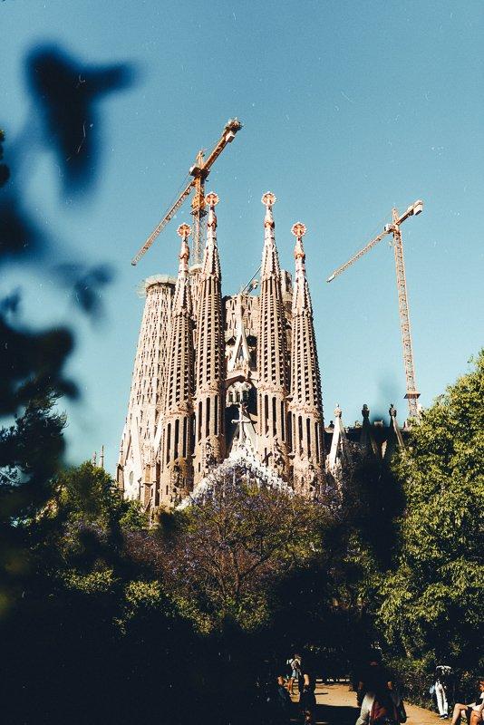 Uitzicht op Sagrada Familia.
