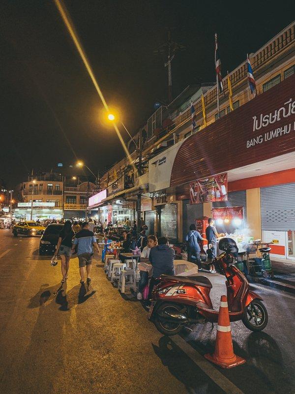 De straten van Bangkok