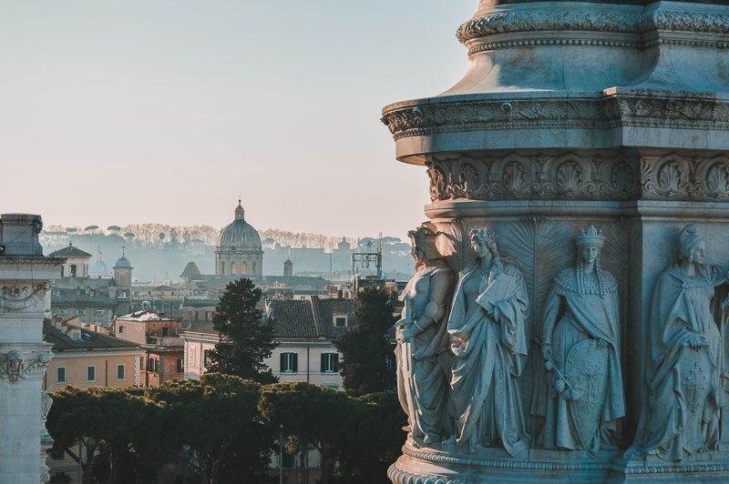 Rome is een van de warmere stedentrips in de winter.