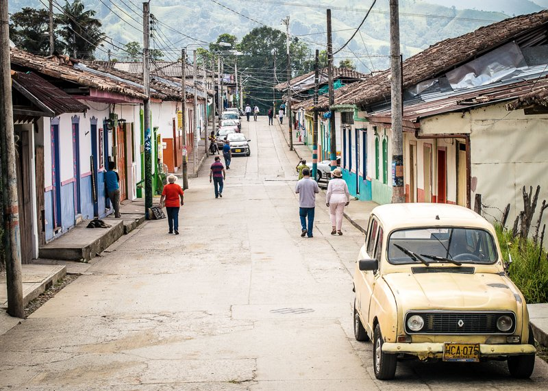 Het kleurrijke dorp van Salento in Colombia