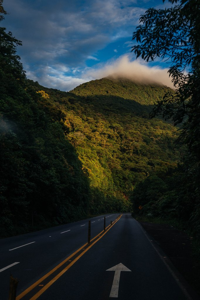 Een autoroute door Costa Rica