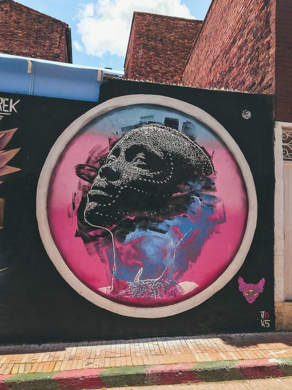 Street art in Colombia