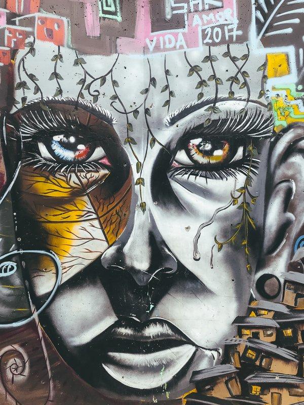 Street art in Medellin.
