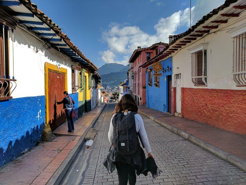 De kleurrijke wijk La Candelaria