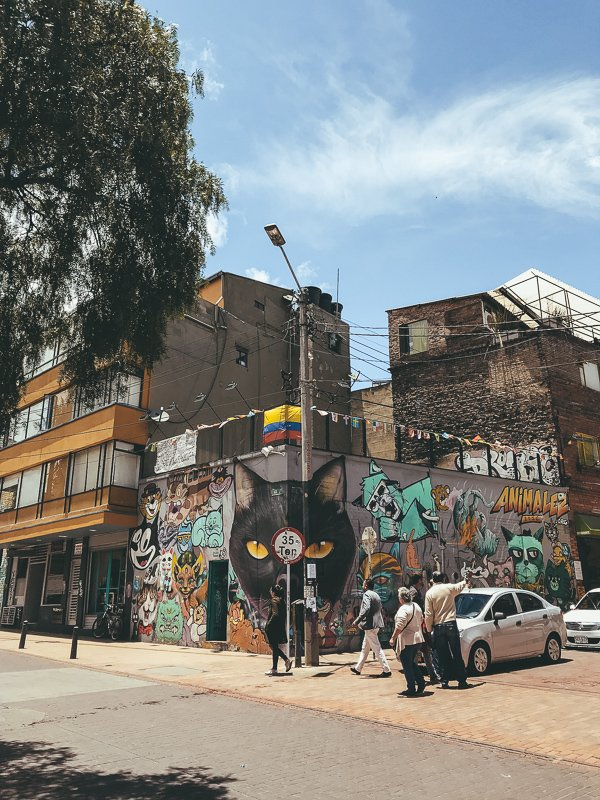 Street art in La Candelaria.