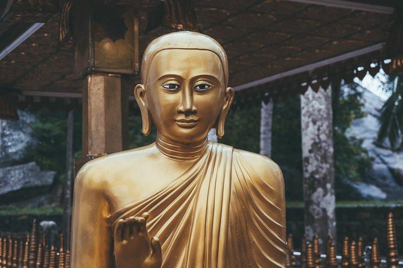 Boeddhabeelden bij Mihintale