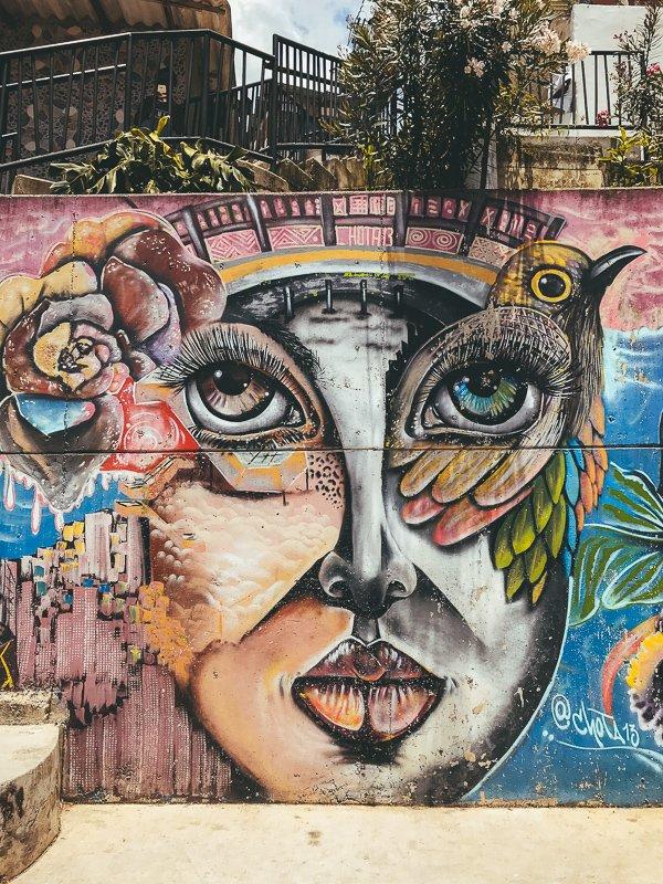 Street art in ooit de gevaarlijkste stad ter wereld