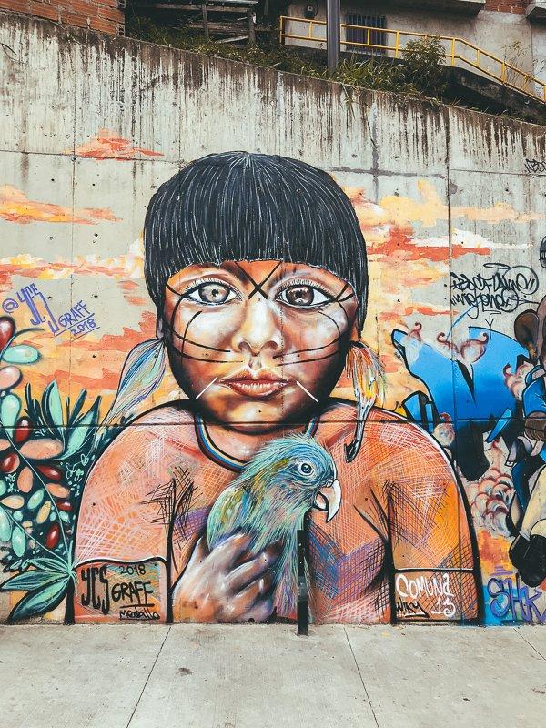 In Medellin vind je de mooiste street art ter wereld.