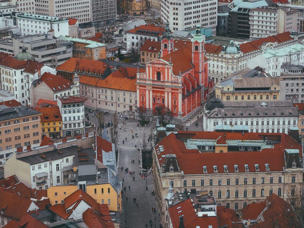 Het centrum van Ljubljana