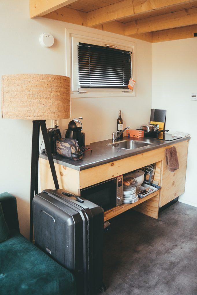 De keuken in de tiny house